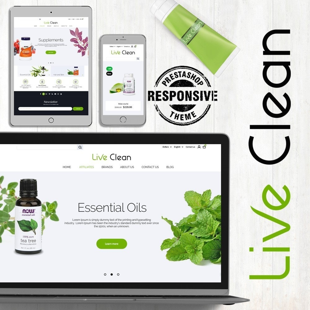 theme - Health & Beauty - Live Clean - 1