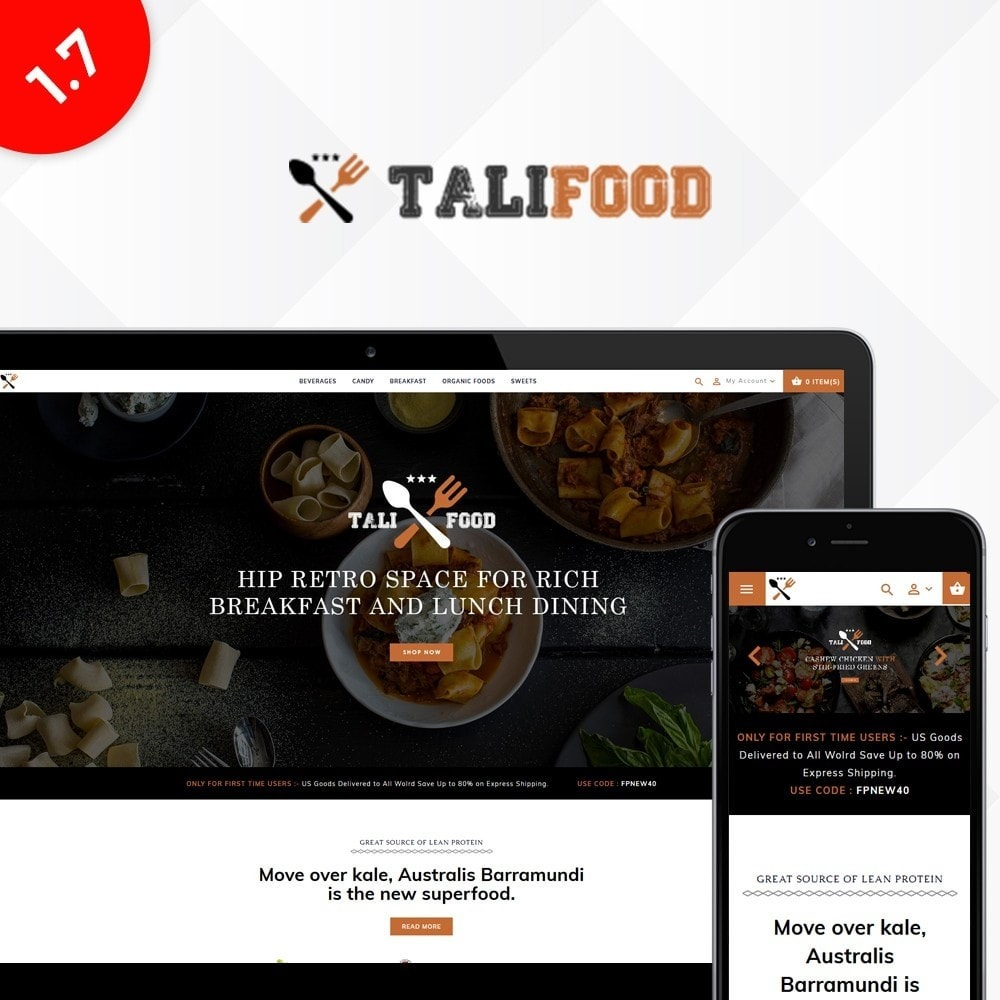 theme - Alimentation & Restauration - Tali Food Store - 1