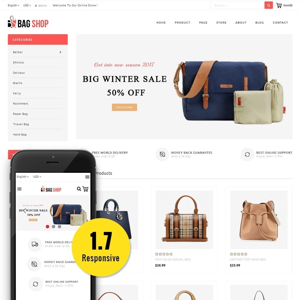 theme - Fashion & Shoes - Bag Store - 1