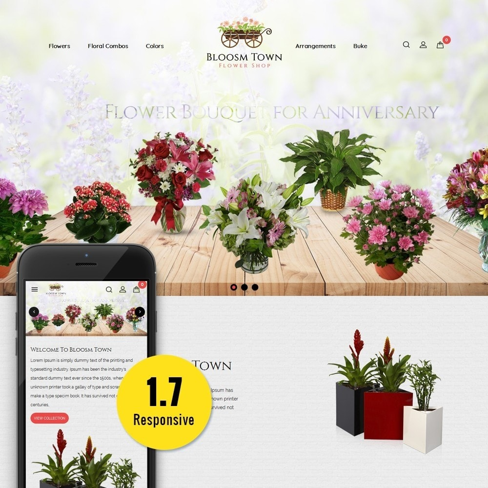 theme - Подарки, Цветы и праздничные товары - Flowershop Store - 1