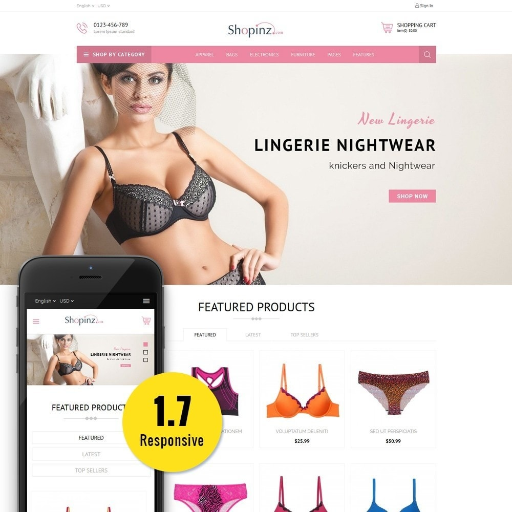 theme - Мода и обувь - Lingerie Store - 1