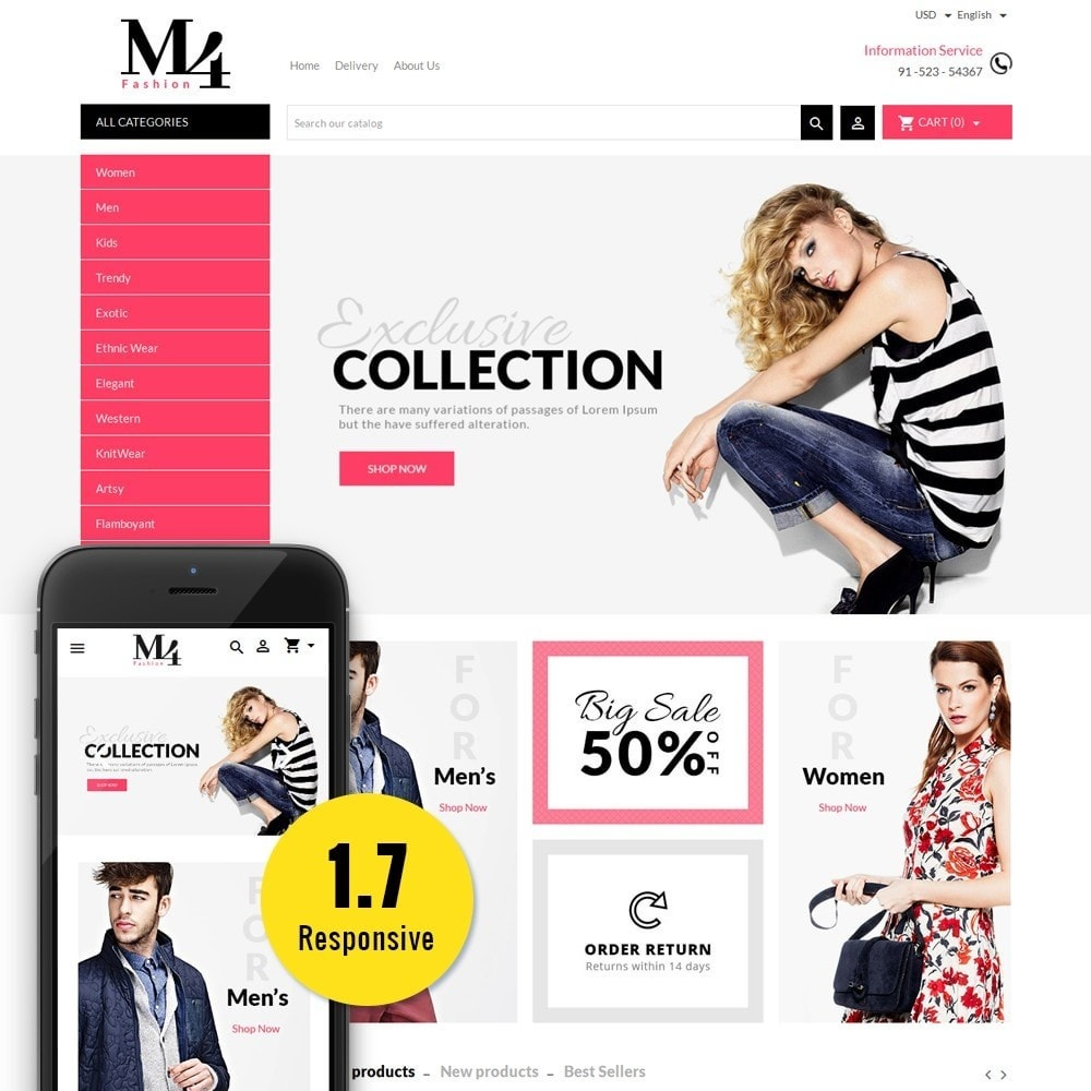 theme - Mode & Chaussures - M4 Fashion Store - 1
