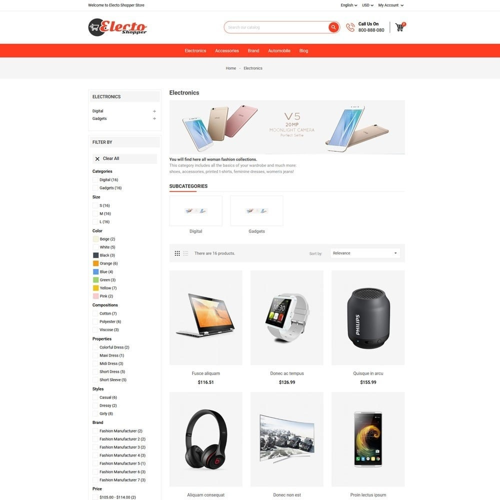 theme - Elektronika & High Tech - Electo Shopper Store - 3