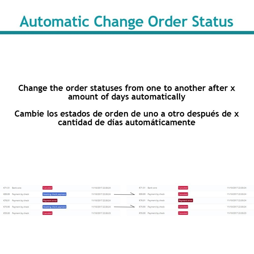 module - Zarządzanie zamówieniami - Change order status automatically - 1