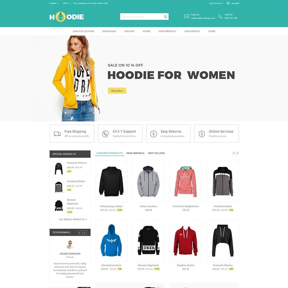 theme - Fashion & Shoes - Hoodie Fashion Store - 2
