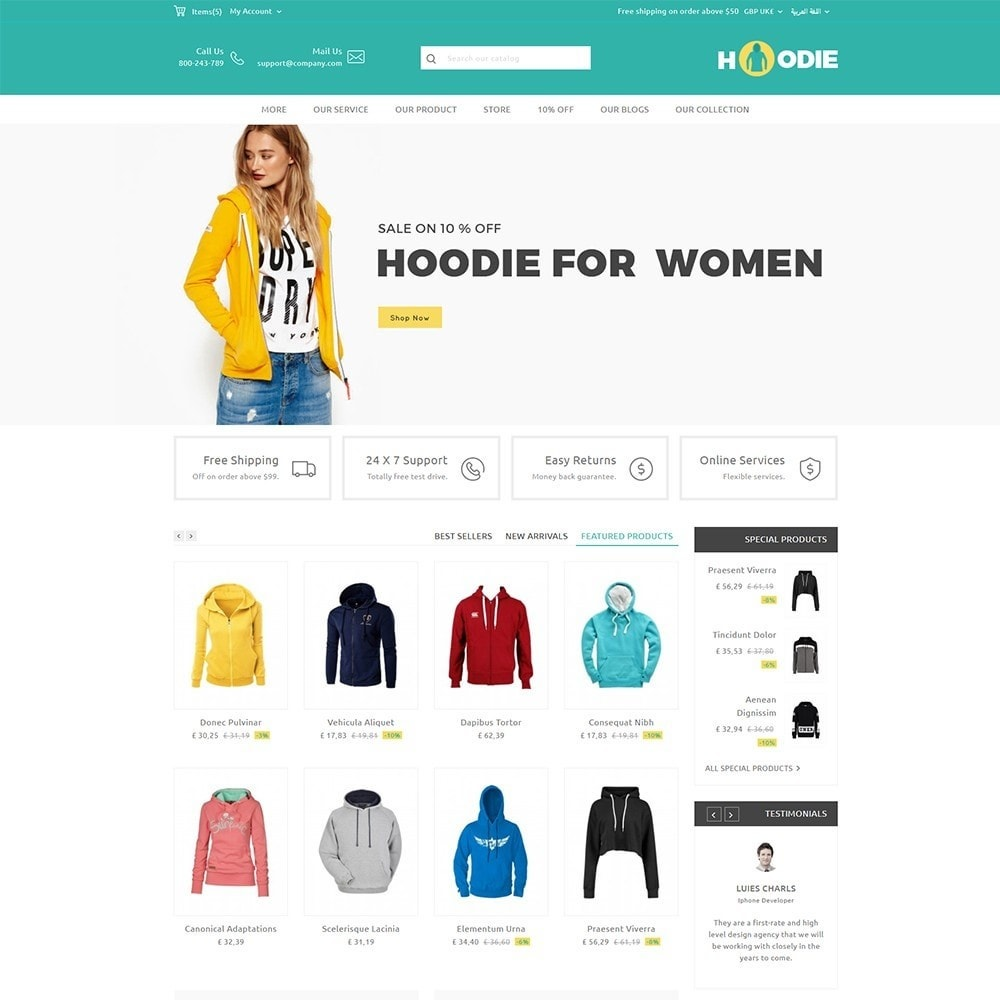theme - Fashion & Shoes - Hoodie Fashion Store - 7