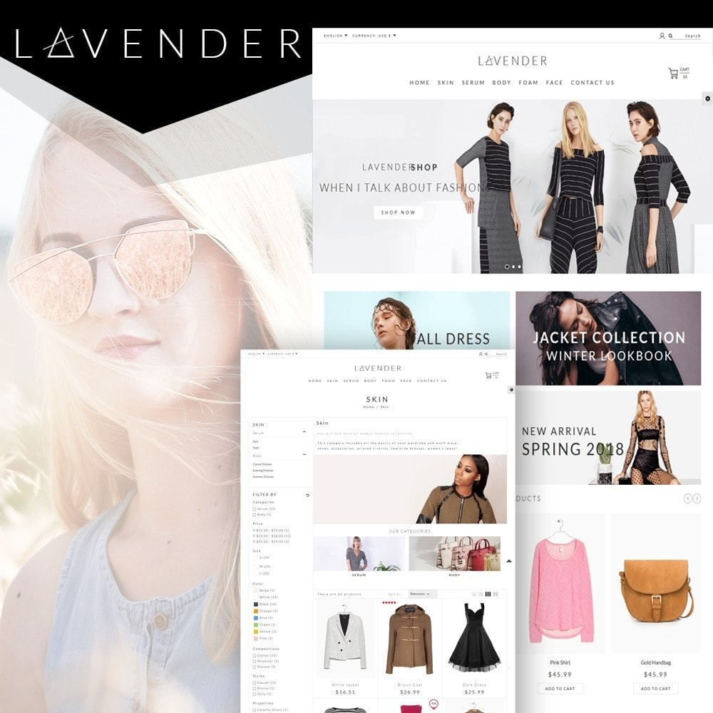 theme - Мода и обувь - Lavender Fashion Store - 1