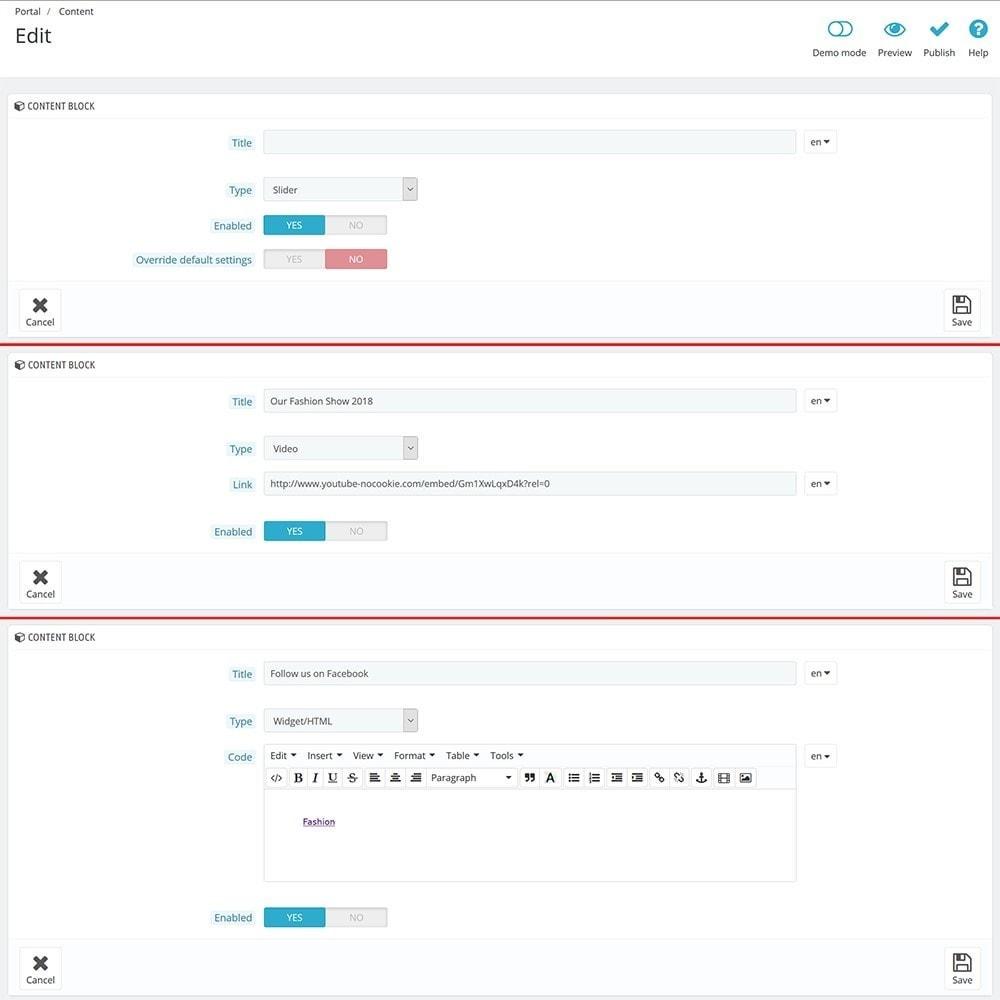 module - Personalizzazione pagine - EVOLVE Portal - 8
