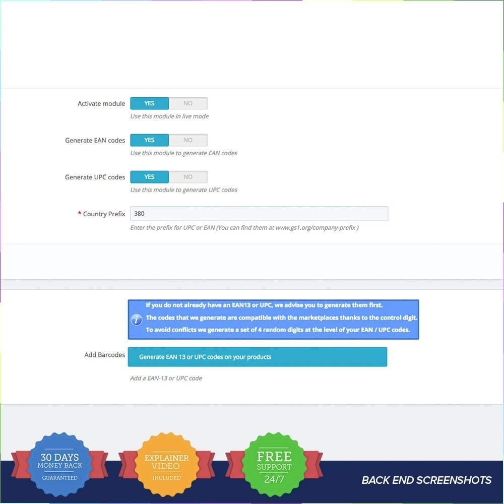 module - Zarządzanie zapasami &  Dostawcy - EAN - UPC codes Generator - 4