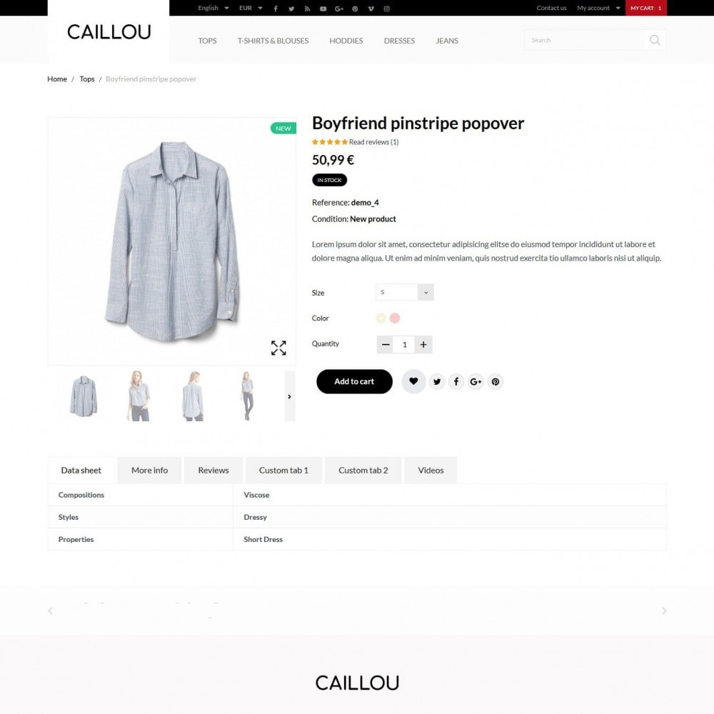 theme - Fashion & Shoes - Caillou Fashion Store - 7