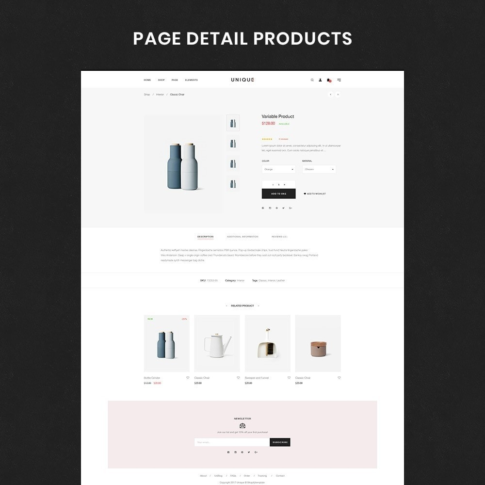 Unique Store Responsive Multiple Prestashop Theme