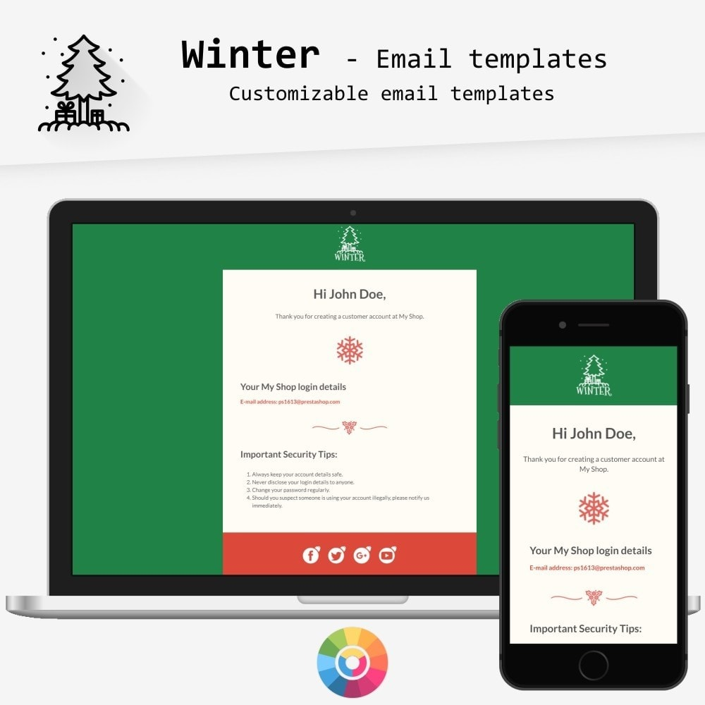 email - PrestaShop-E-Mail-Vorlagen - Winter - Email templates - 1