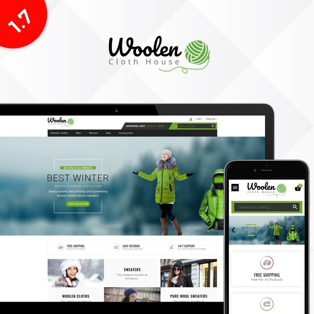 theme - Мода и обувь - Woolen Cloth Store - 1