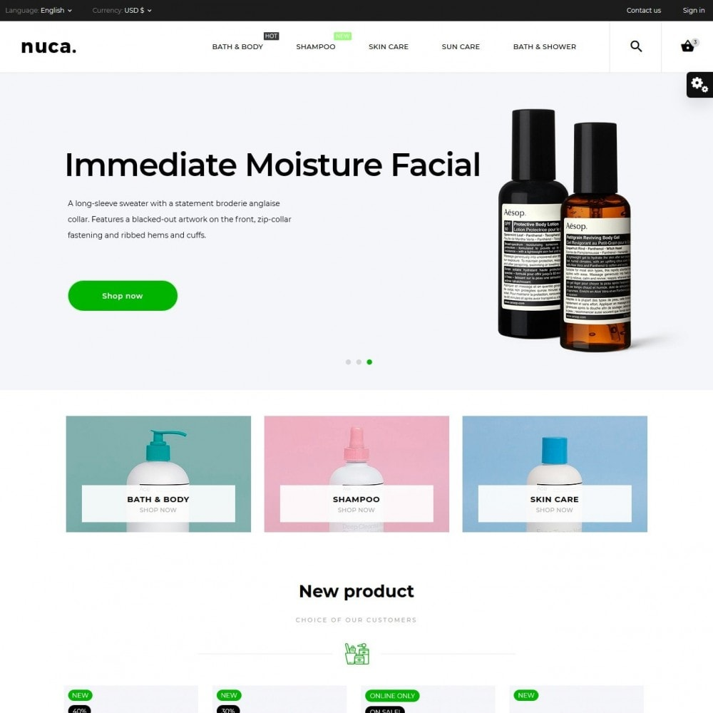theme - Health & Beauty - Nuca Cosmetics - 2