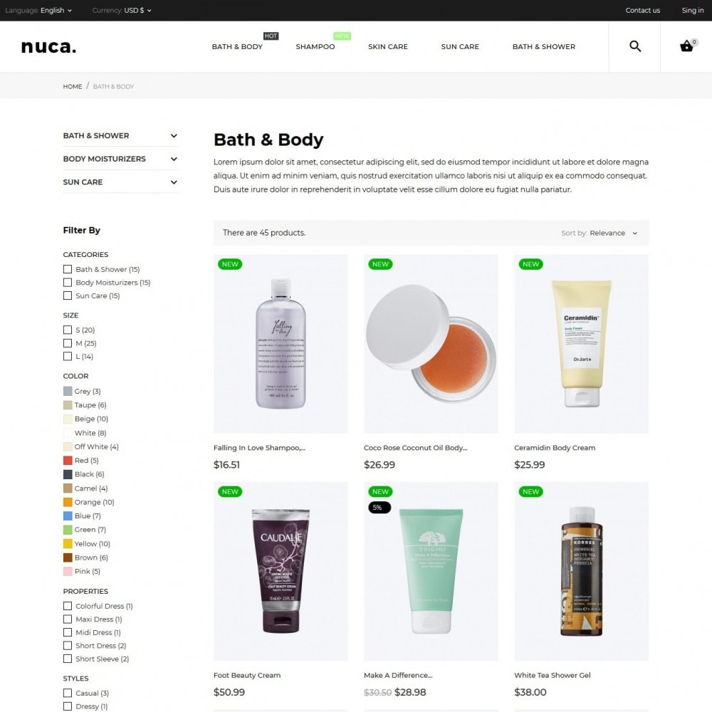 theme - Health & Beauty - Nuca Cosmetics - 7