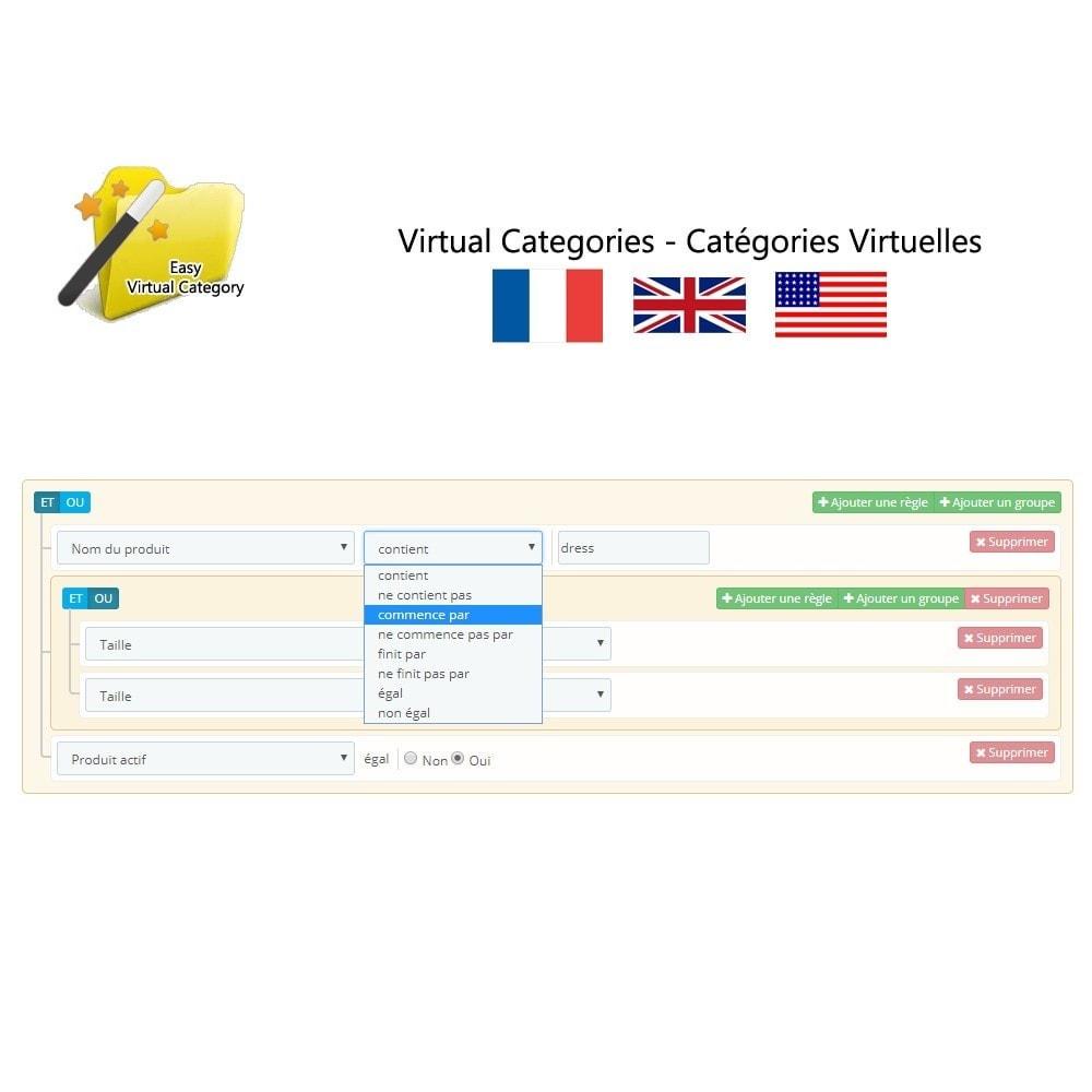 module - Edition rapide & Edition de masse - Catégories virtuelles - 3