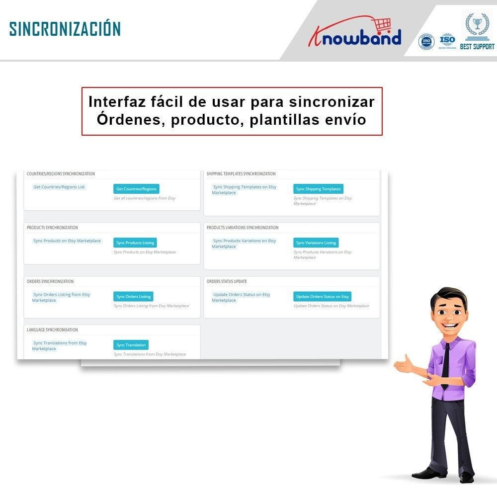 bundle - Integración con CRM, ERP... - Marketplace Integration pack - Sell on top marketplace - 8