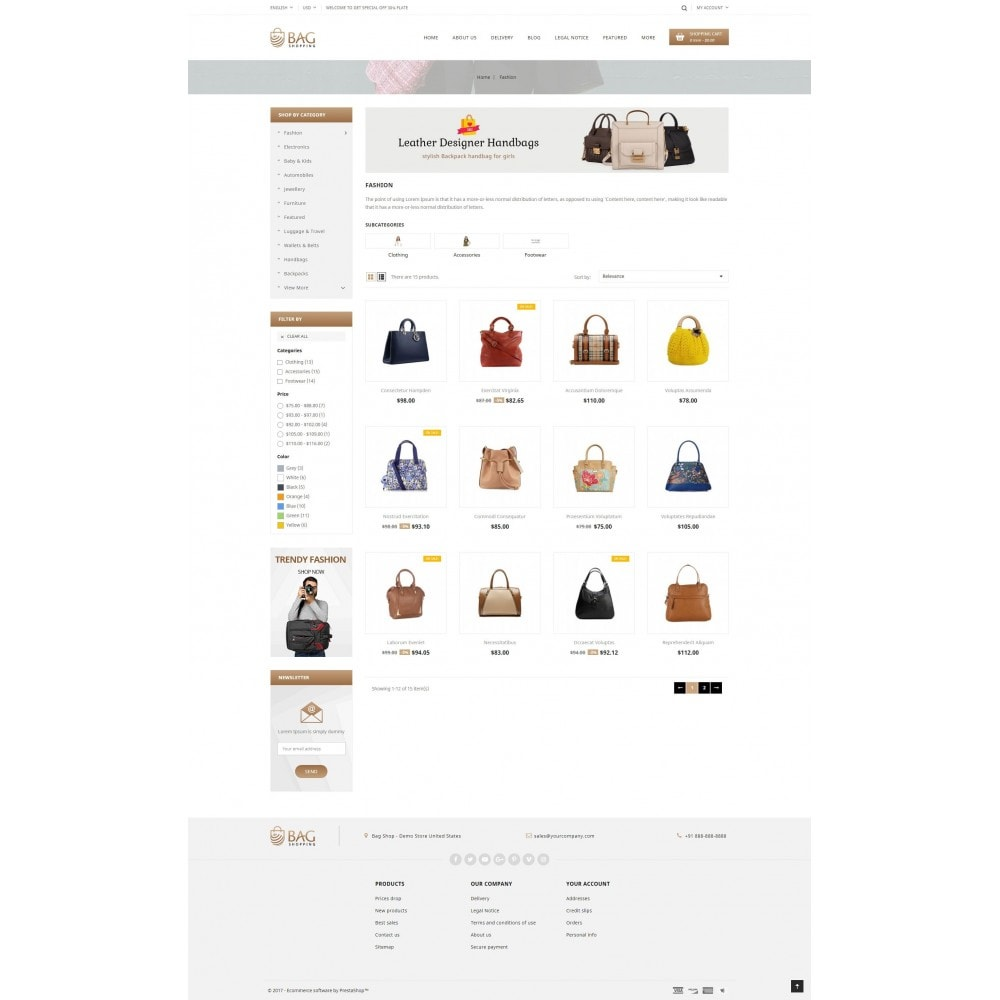 theme - Mode & Chaussures - Bag Shop - 3