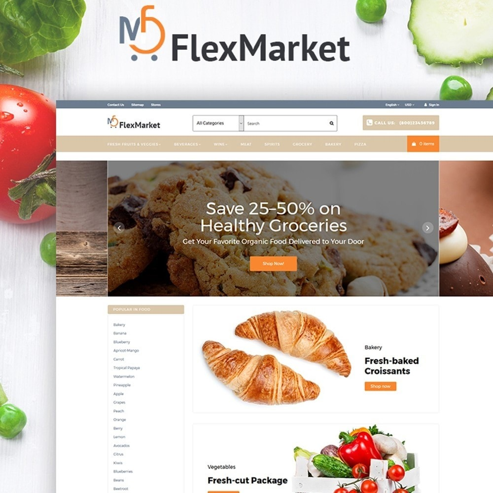 theme - Lebensmittel & Restaurants - FlexMarket - 1