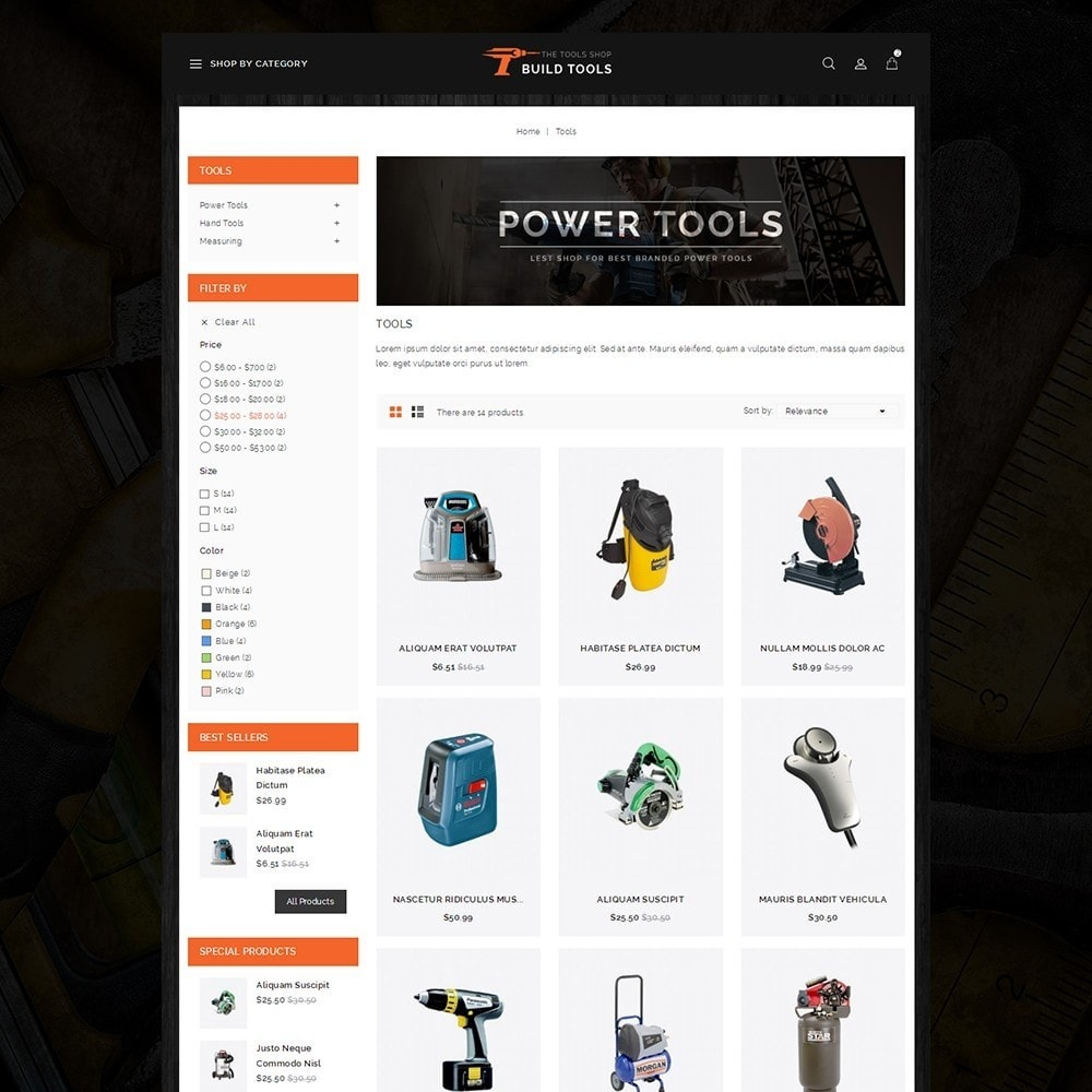 theme - Auto & Moto - Build Tools - Online Store - 3