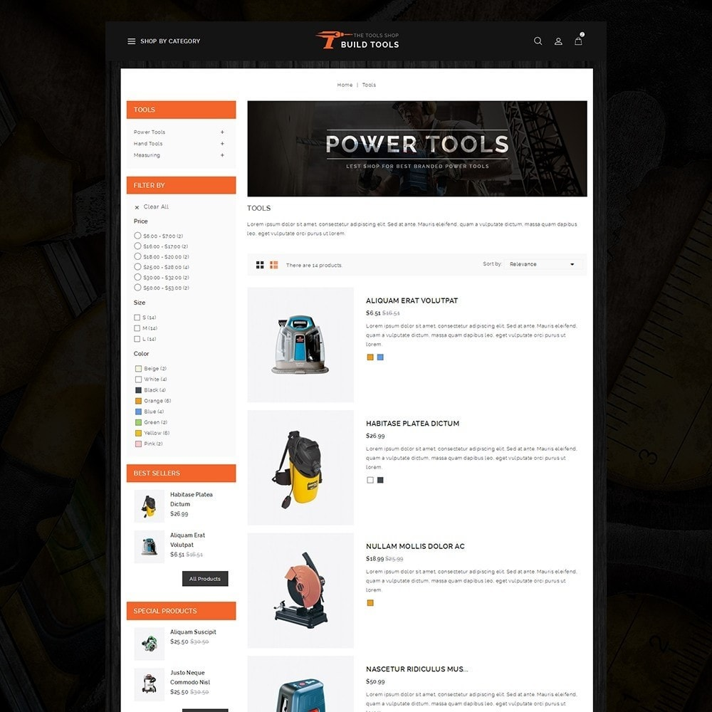 theme - Auto & Moto - Build Tools - Online Store - 4
