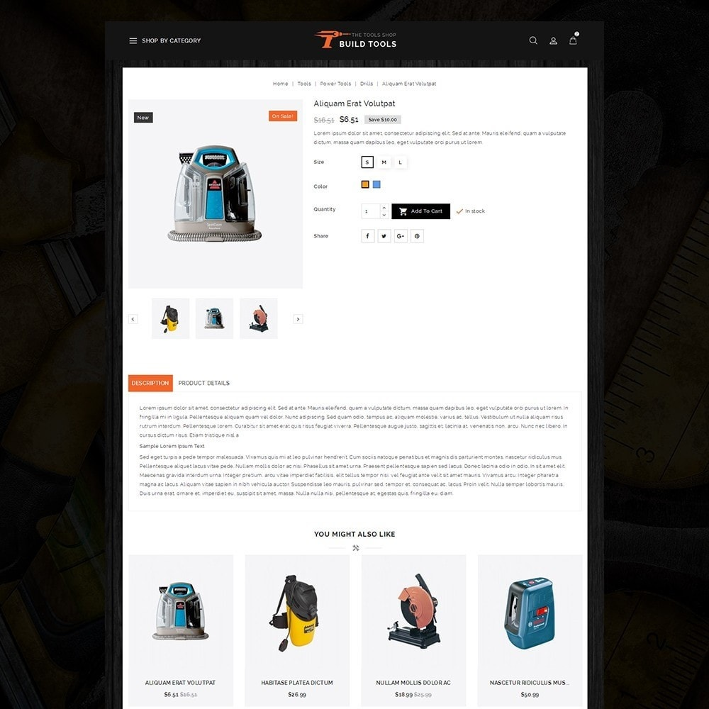 theme - Auto & Moto - Build Tools - Online Store - 5
