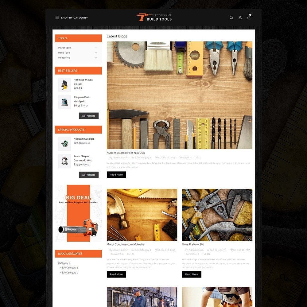 theme - Auto & Moto - Build Tools - Online Store - 6