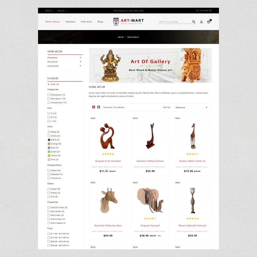theme - Arte & Cultura - Art Mart - Online Store - 3