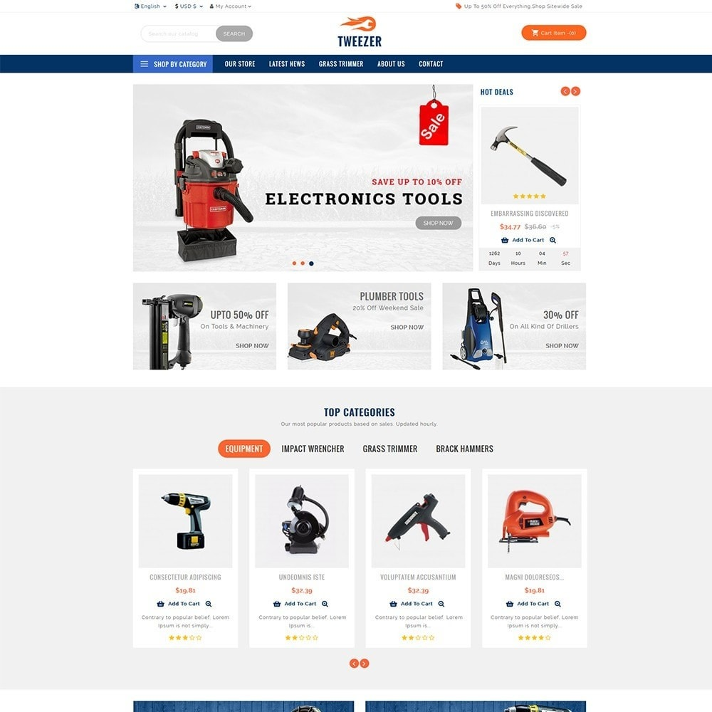 theme - Carros & Motos - Tweezer Tool Store - 2