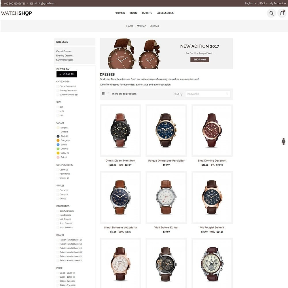 theme - Schmuck & Accesoires - Watch Shop - 5