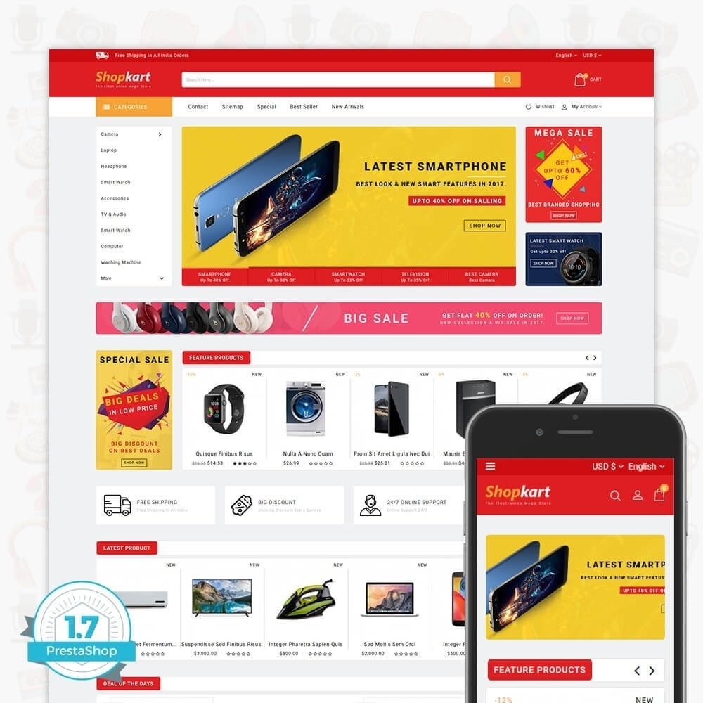 theme - Elektronik & High Tech - ShopKart - The Electronics Store - 1