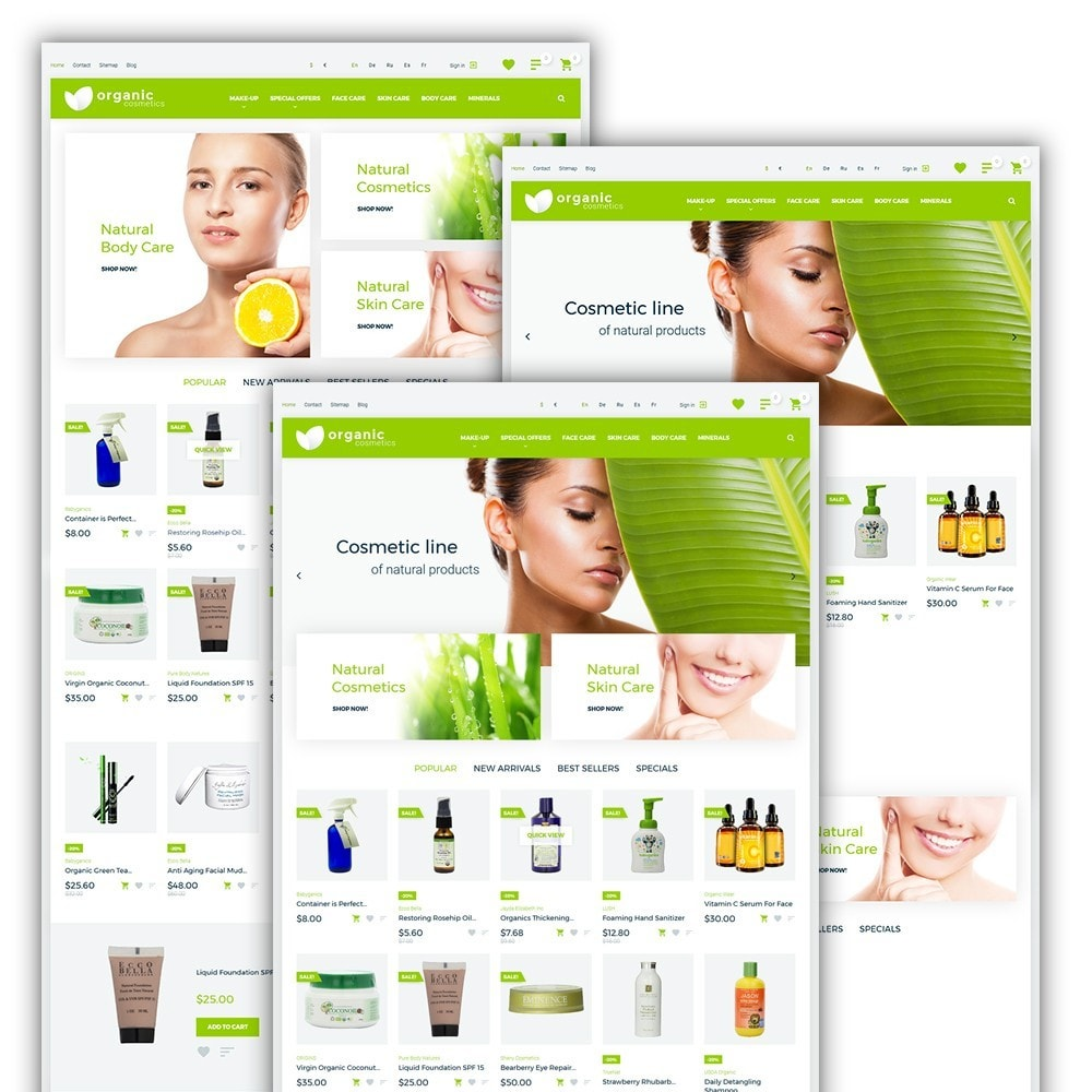 theme - Health & Beauty - Organic cosmetics - 2
