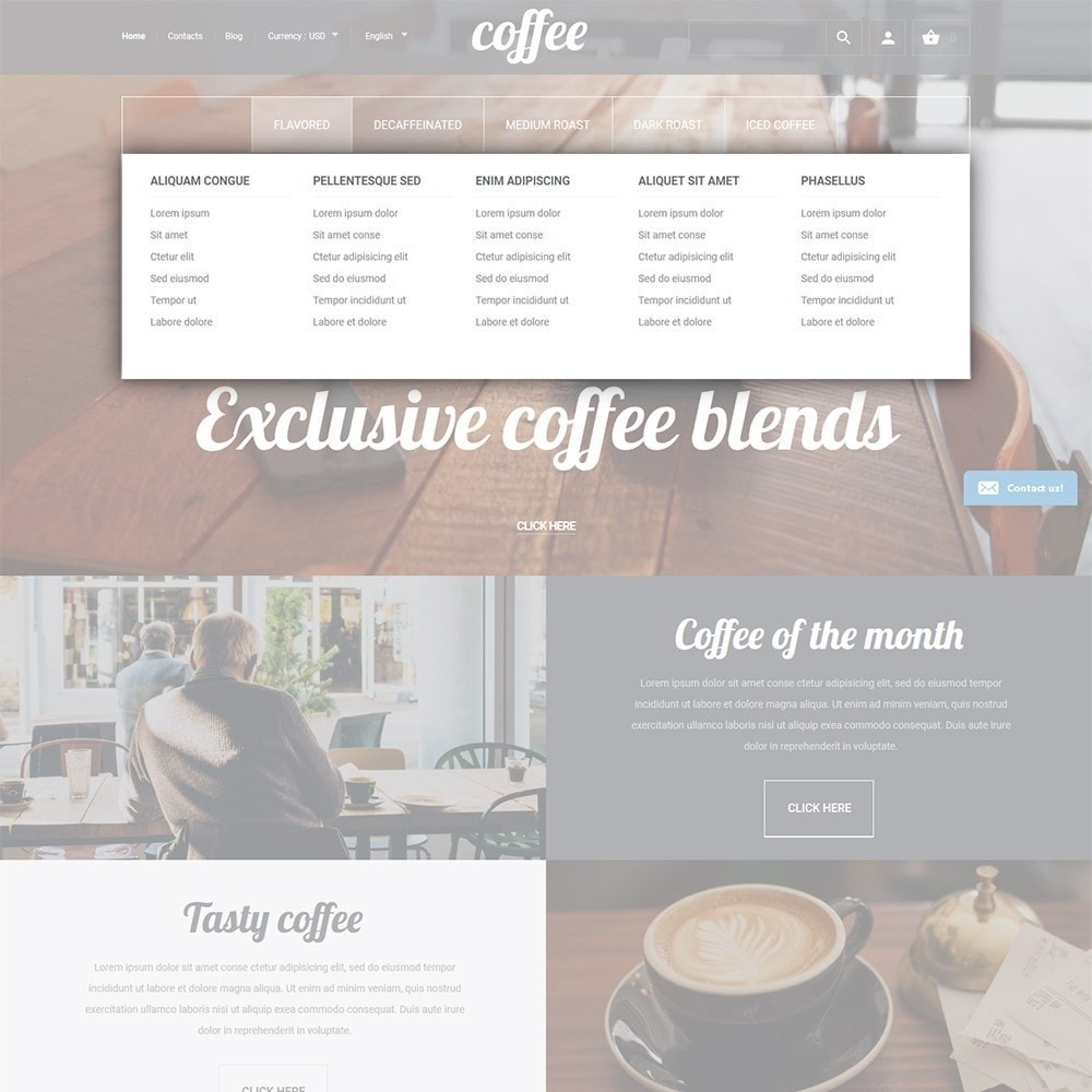 theme - Lebensmittel & Restaurants - Coffee - Coffee Shop Template - 4