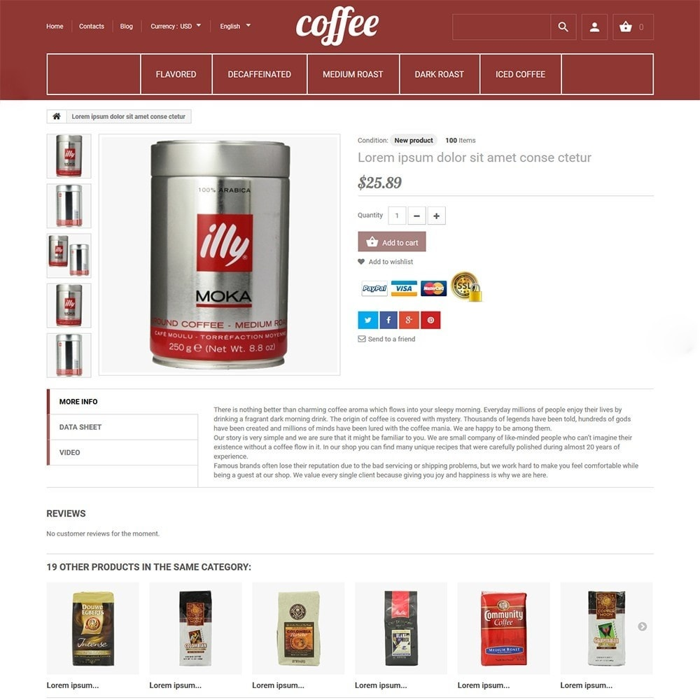 Coffee - Caffetteria template