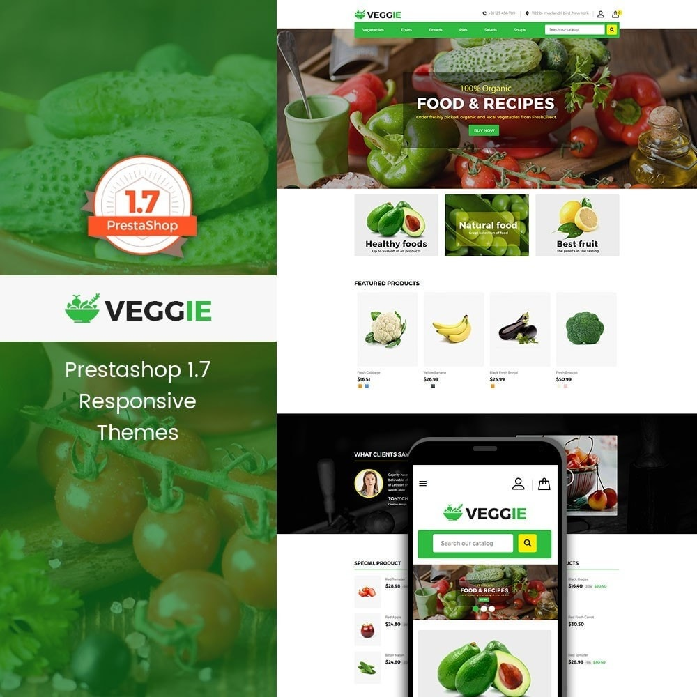 theme - Alimentos & Restaurantes - Food Store - 1