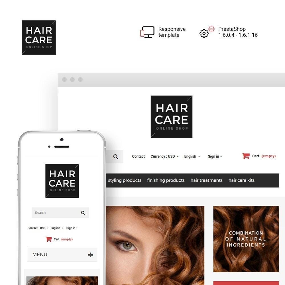 theme - Здоровье и красота - Hair Care - шаблон на тему парикмахерская - 1