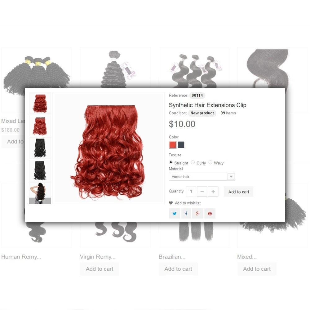 theme - Santé & Beauté - Hair Care - Brillance de cheveux thème - 5