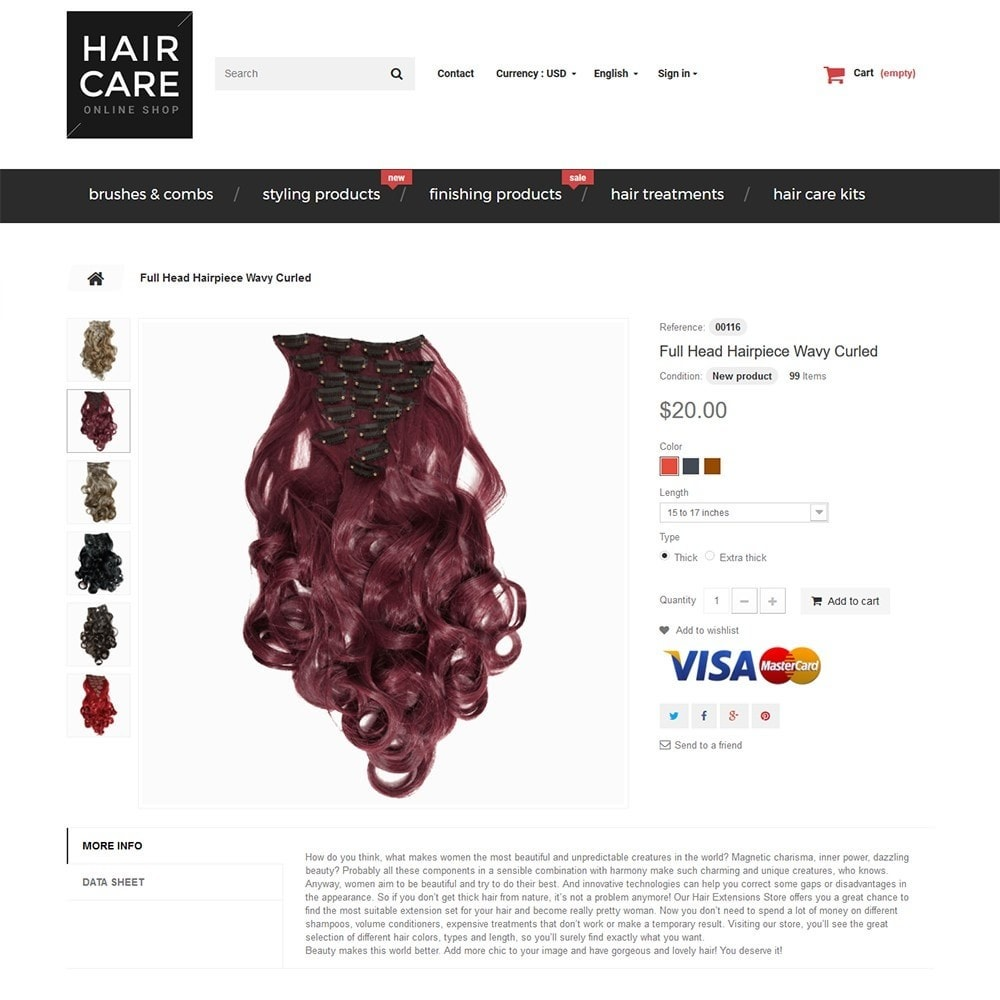 theme - Salud y Belleza - Hair Care - para Sitio de Peluquerías - 3