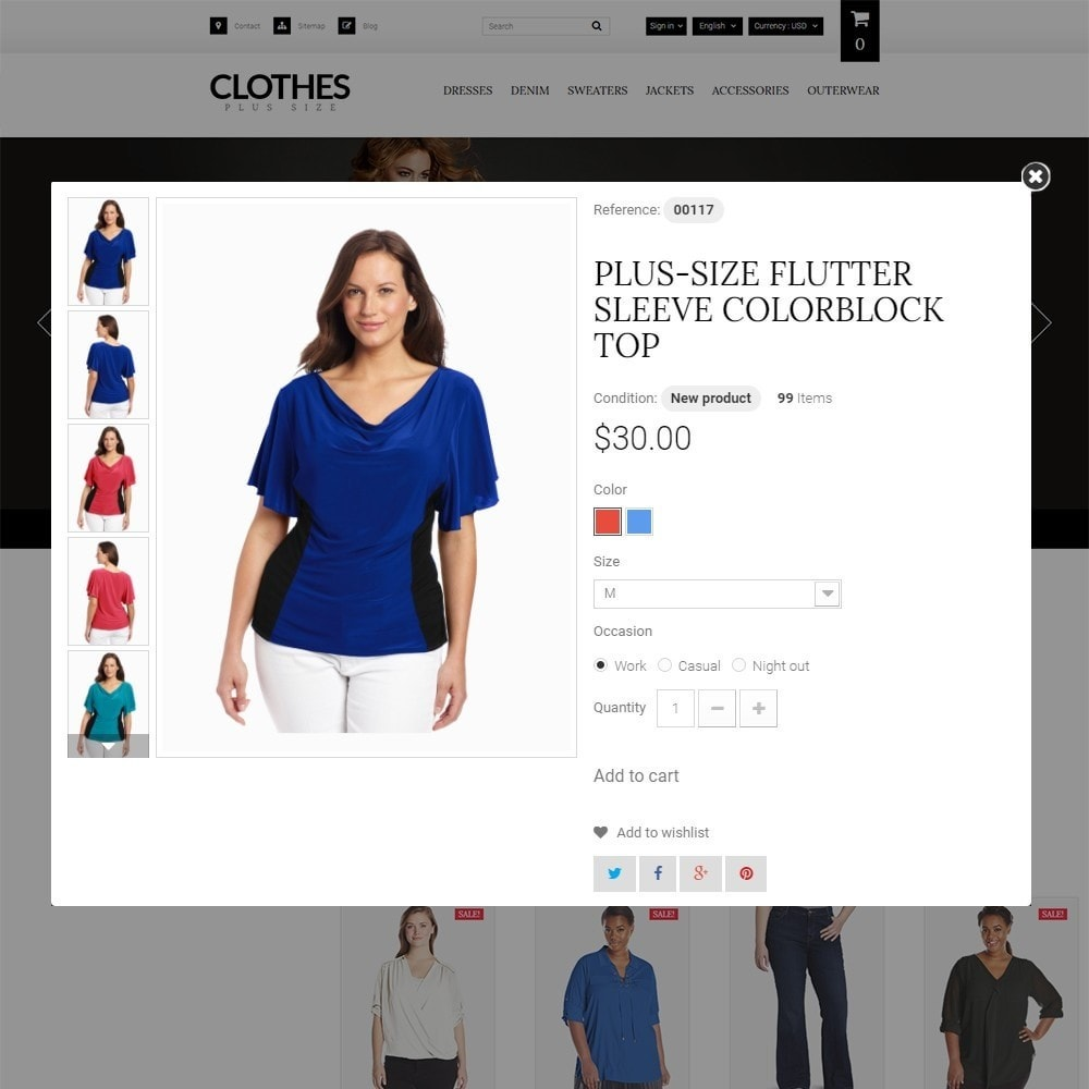 Clothes Plus Size - Apparel Template