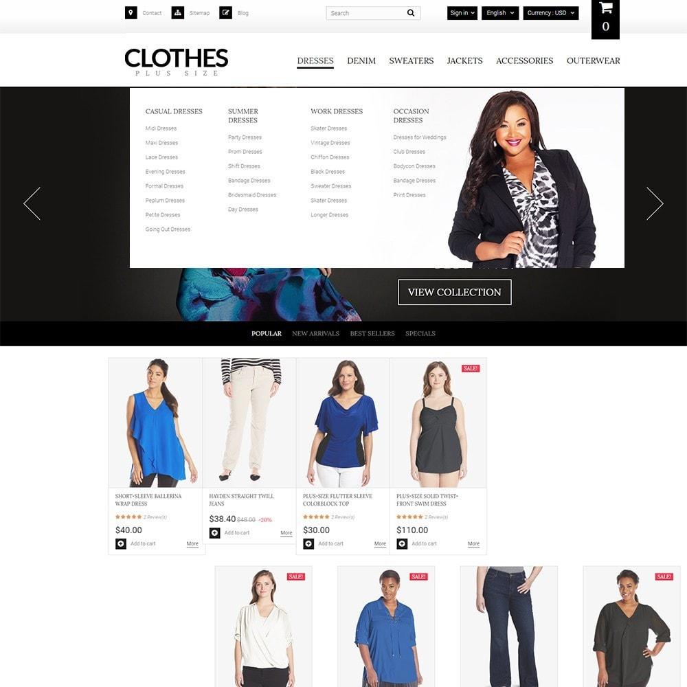 theme - Moda y Calzado - Clothes Plus Size - para Sitio de Ropa - 6