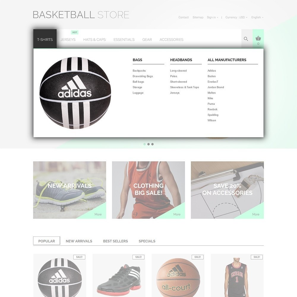theme - Sports, Activities & Travel - Basketball Store - 4