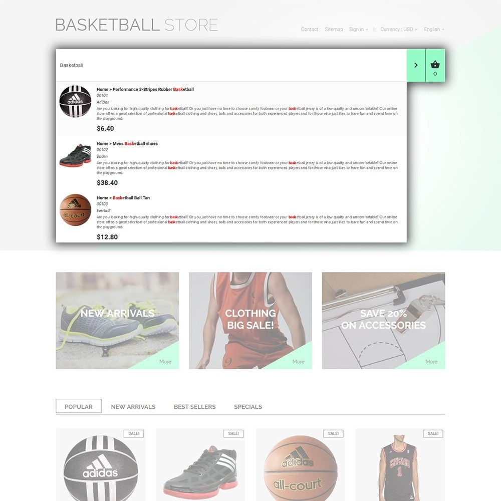 theme - Sports, Activities & Travel - Basketball Store - 6