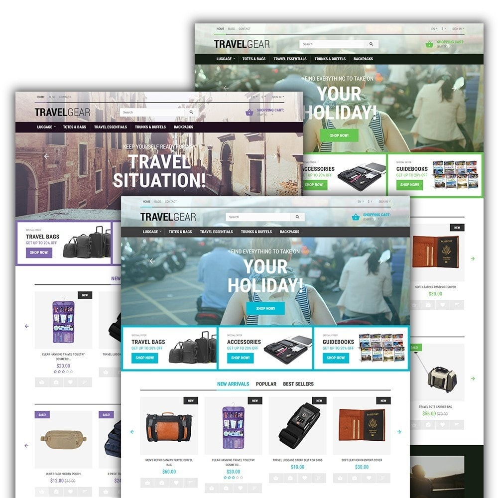 Travel Gear - Travel Store Template