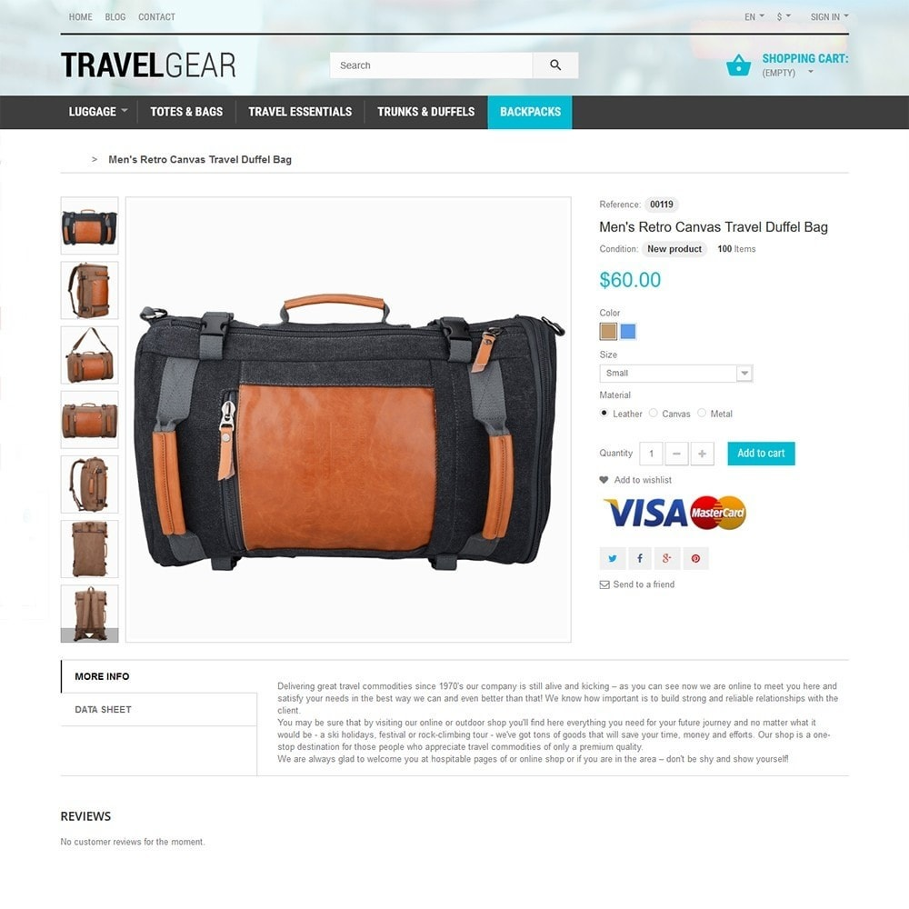 theme - Sports, Activities & Travel - Travel Gear - Travel Store Template - 3