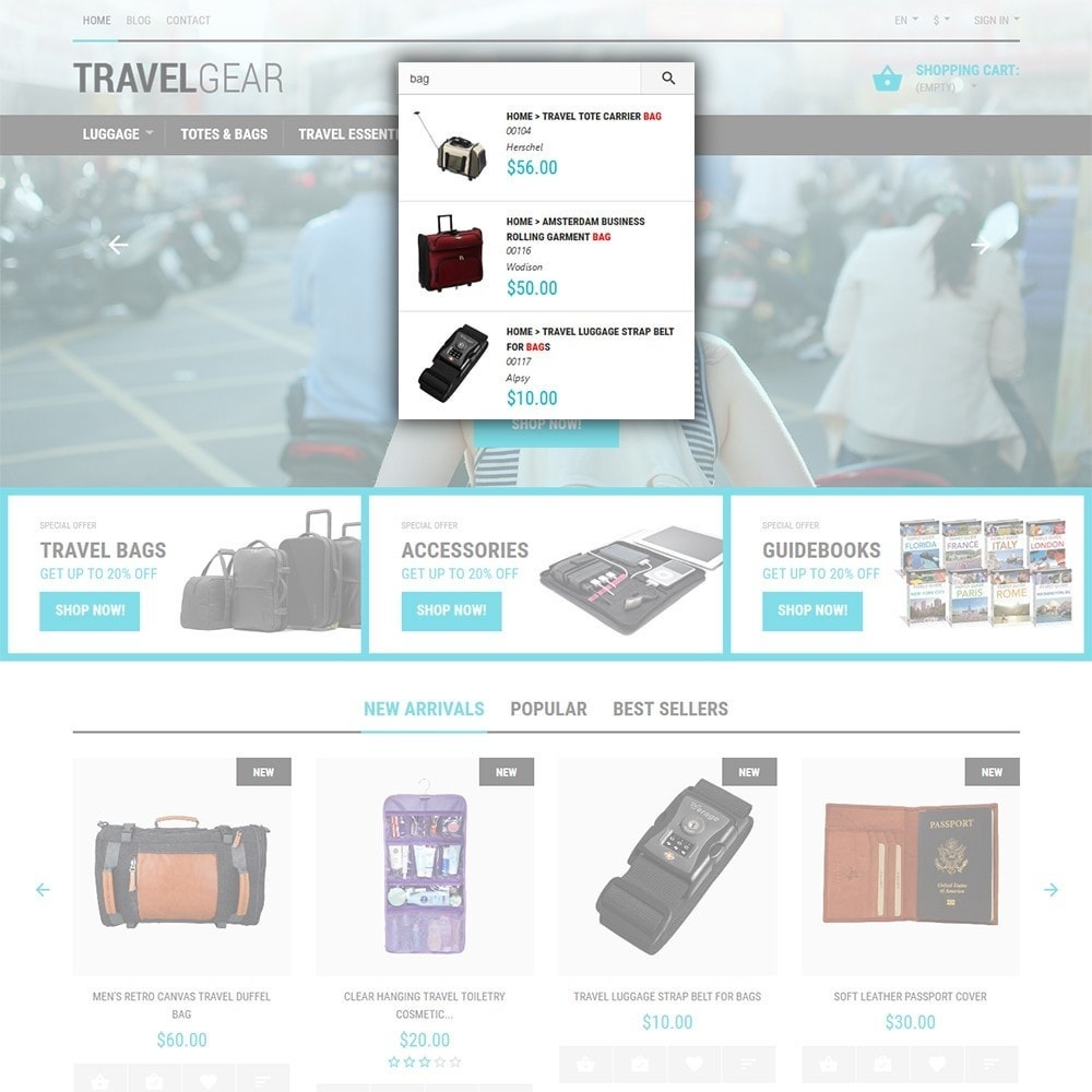 theme - Sports, Activities & Travel - Travel Gear - Travel Store Template - 6