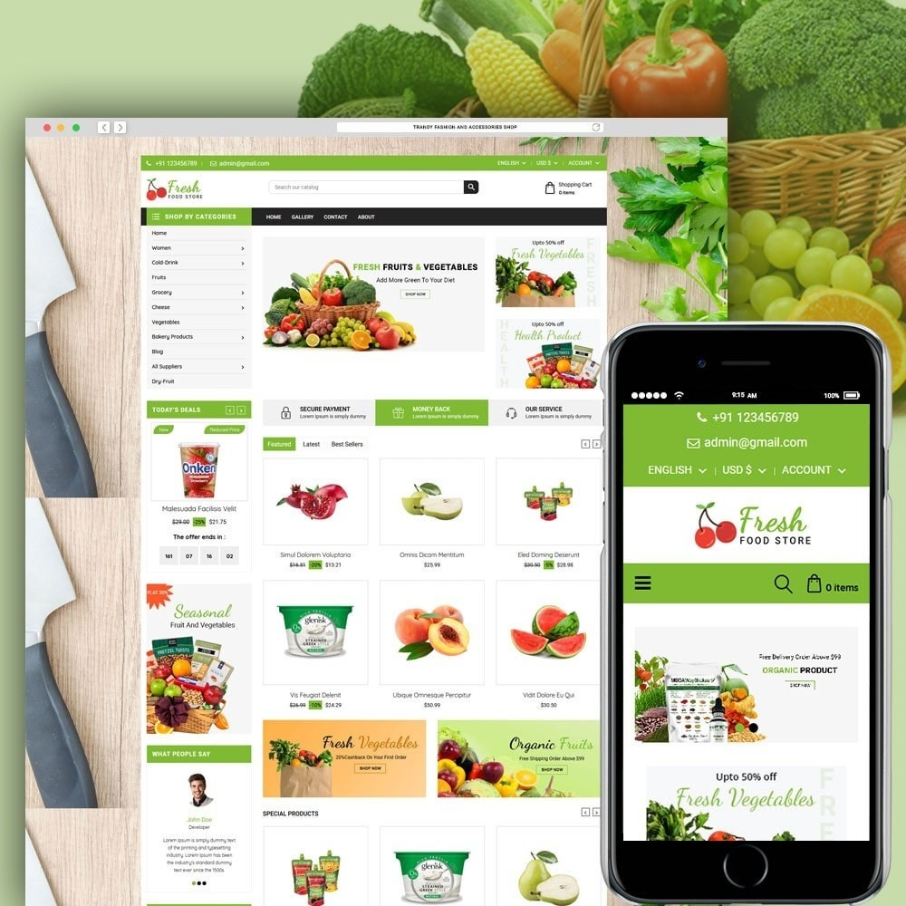 theme - Alimentos & Restaurantes - Fruit Store - 1