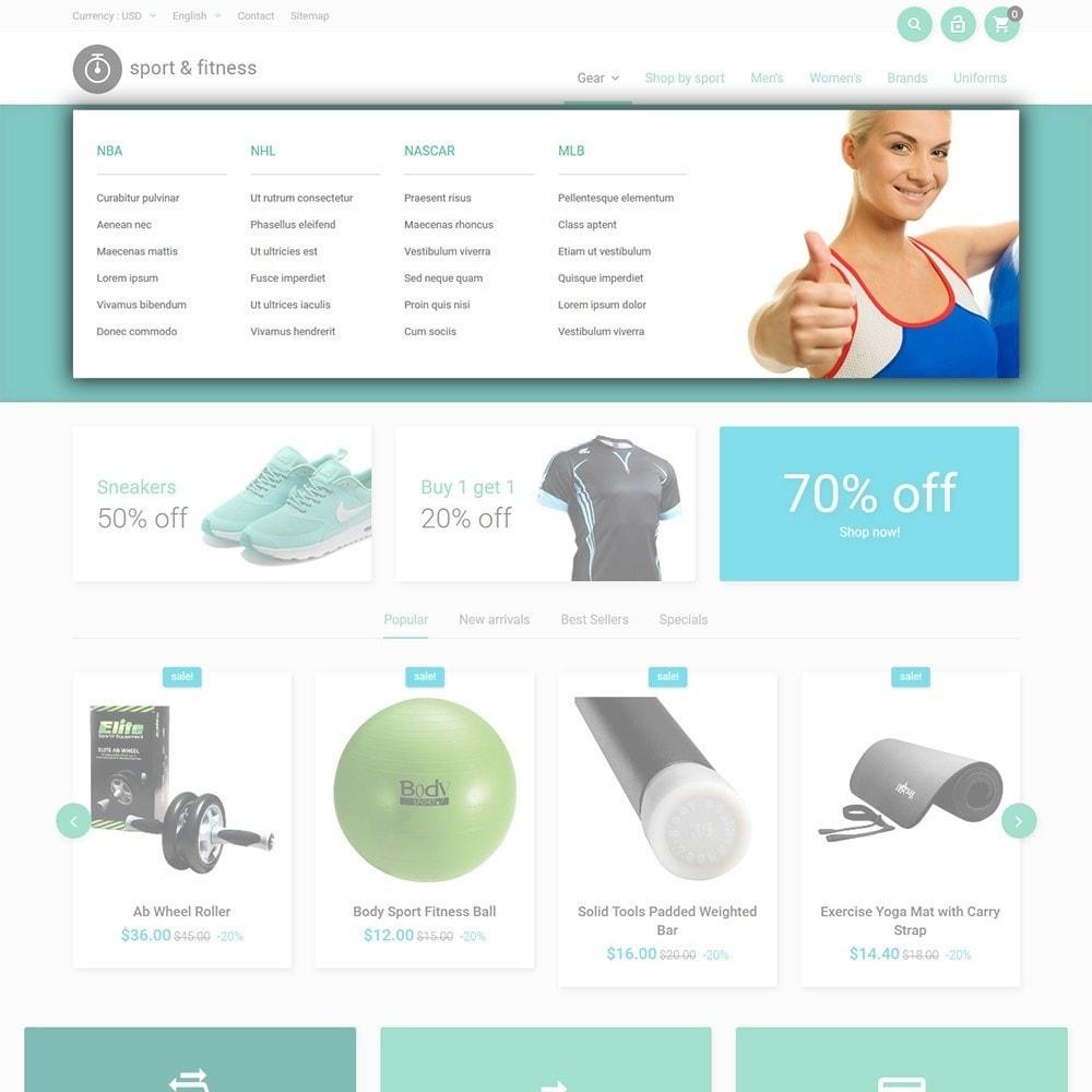theme - Deportes, Actividades y Viajes - Sport&Fitness - para Sitio de Fitness - 5