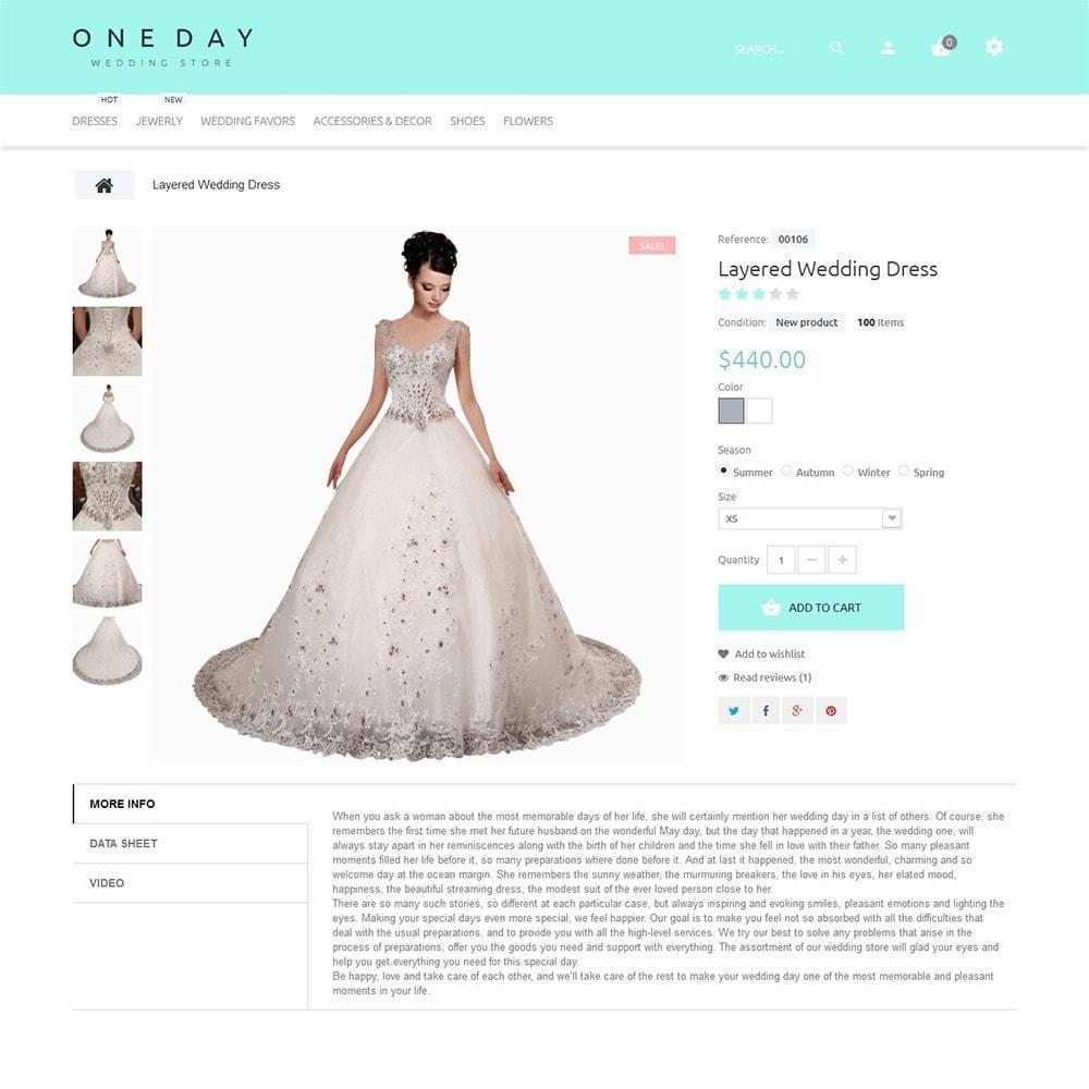 theme - Mode & Chaussures - One Day - Modèle de magasin de mariage - 3