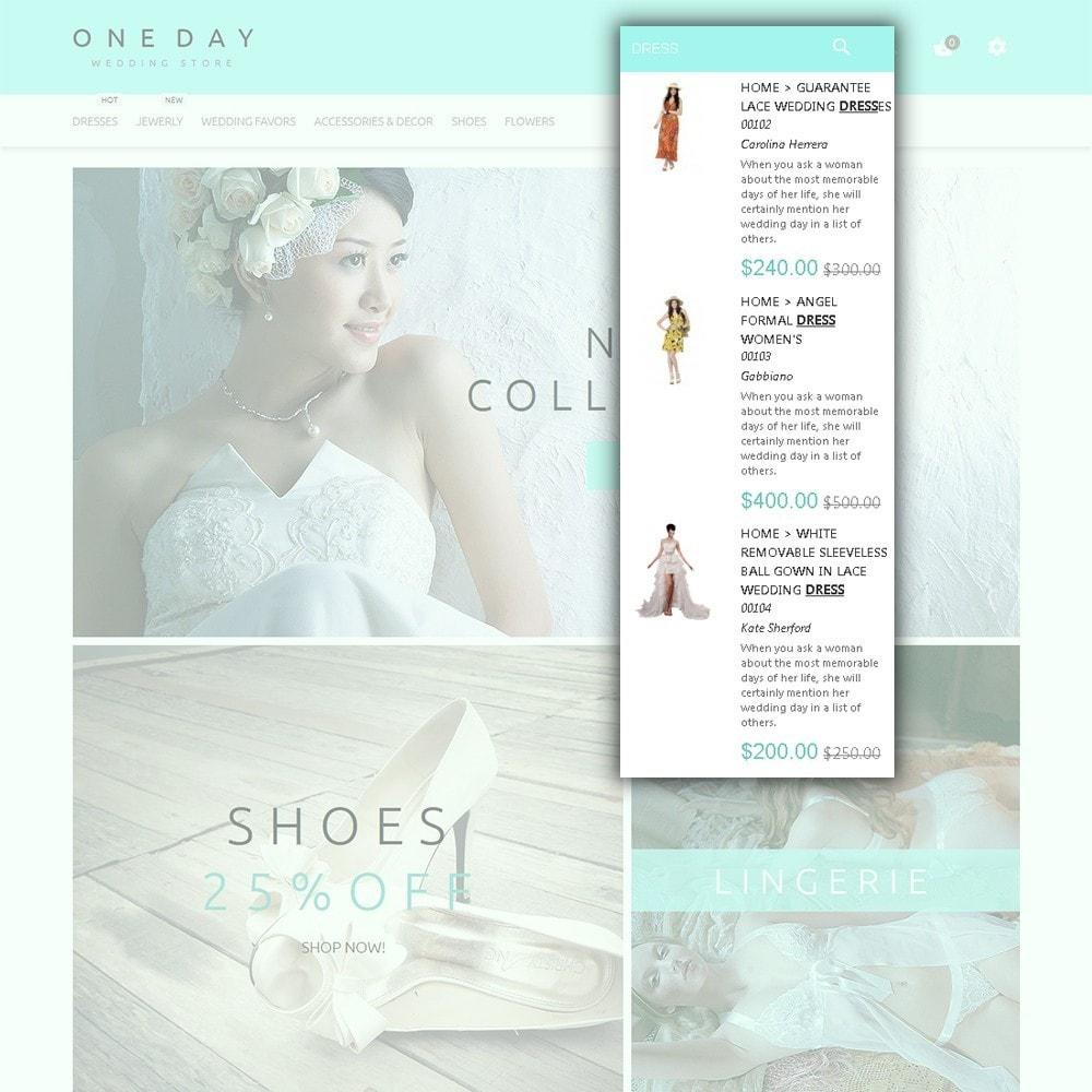 theme - Moda y Calzado - One Day - para Sitio de Tienda de Artículos para Boda - 6