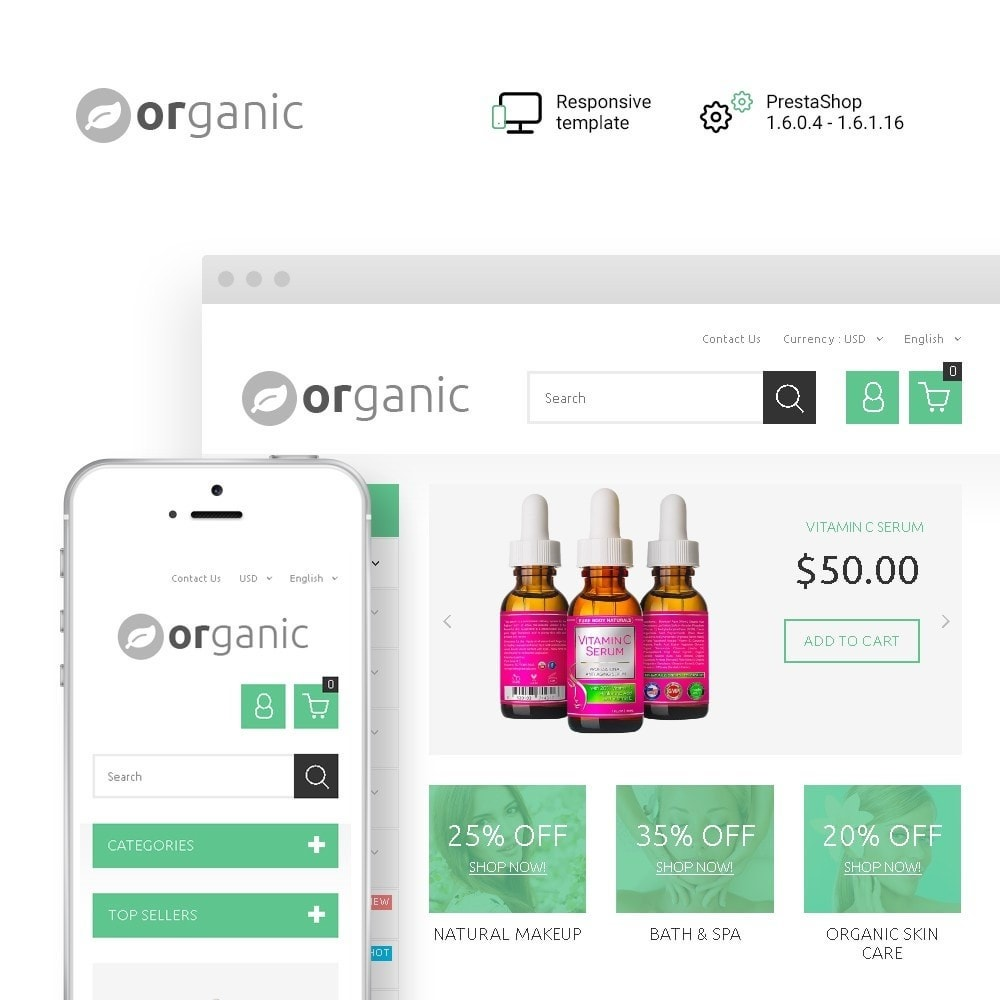 theme - Health & Beauty - Organic - 1